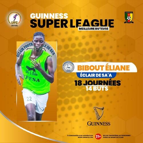 CAMEROUN :: Guinness super League : Éliane Aimée Bibout meilleure buteuse :: CAMEROON