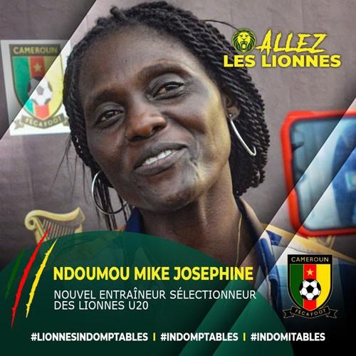CAMEROUN :: Urgent, Lionnes U-20 : Ndoumou Mike Josephine nommée Entraîneur :: CAMEROON